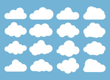 Clouds Icon, Vector Illustrati...