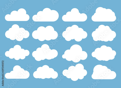Clouds icon, vector illustration. Cloud symbol or logo, different clouds set