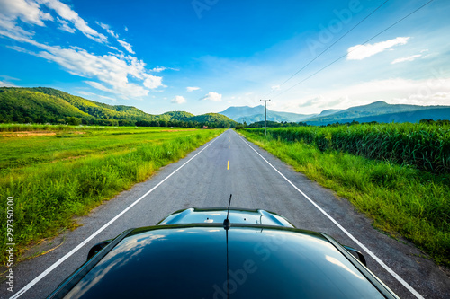 Fototapeta  Travel Driving in Countryside (Sukhothai, Thailand)