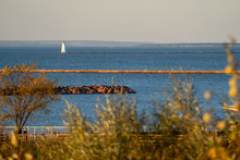 View Of The Ashland Breakwater...
