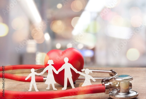 Papel de parede  Medical Stethoscope with Heart isolated on  background