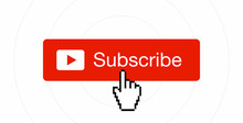 Subscribe Button With Hand Cursor Vector Illustration