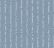 Rain Seamless Vector Pattern. Rainy Season Background In Simple Flat Style With Water Line And Liquid Drops. Rainfall Illustration