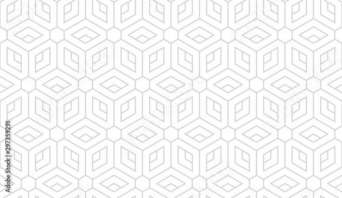 Canvas Prints Geometric The geometric pattern with lines. Seamless vector background. White and grey texture. Graphic modern pattern. Simple lattice graphic design.