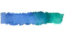 Spots Aquarelle Blue Green Water