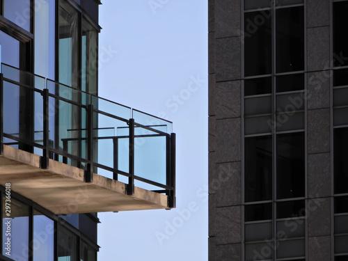 Türaufkleber Darknightsky building balcony and sky