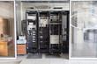 Leinwanddruck Bild - Server room with switching equipment