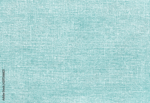 Door stickers Macro photography Canvas pattern in cyan tone.