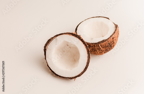 ugly organic coconut on a white background, isolate Canvas-taulu