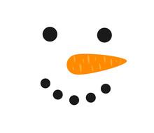 Snowman Smiling Face.