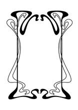 Frame With Art Nouveau Ornament.