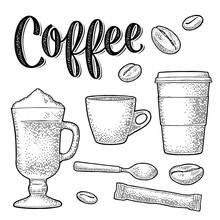 Set Coffee. Sugar, Beans, Spoo...