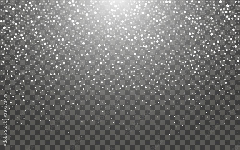 Fototapety, obrazy: Snowfall and falling snowflakes