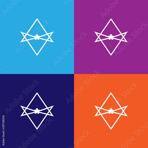 Thelema Unicursal hexagram sign icon Canvas Print