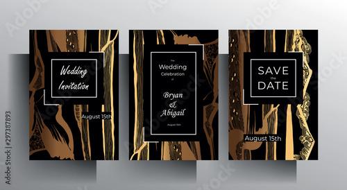 Pinturas sobre lienzo  Design wedding invitation card set