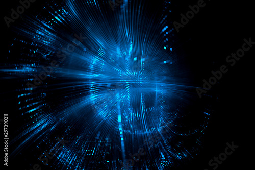 Fotomural Digital technology abstract background