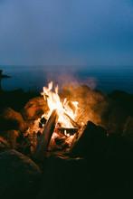Close Up View Of Campfire At N...