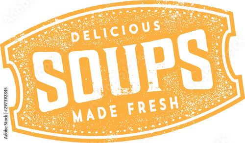 Delicious Soups Sign in Vintage Style Canvas Print
