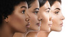 Leinwandbild Motiv Different ethnicity women - Caucasian, African, Asian and Indian.