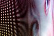 Leinwandbild Motiv Abstract background of close up LED wall
