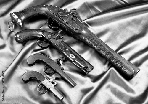 Old Antique Pistols. Wallpaper Mural