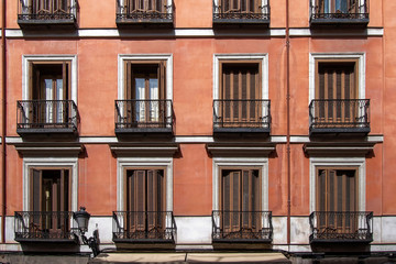Facades of building in the center of Madrid