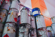 A Collection Of Paint Cans, Gl...