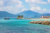 Beautiful sunny beach of Boundary island near Sanya, Hainan island, South China sea, China, Asia