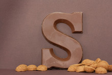 Chocolate Letter S. Symbol Of ...