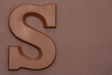 Chocolate Letter S. Symbol Of Dutch Feast Called Sinterklaas.