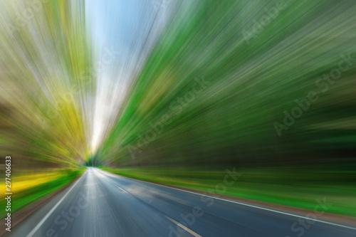 Photo Blurred asphalt road blurred blue sky