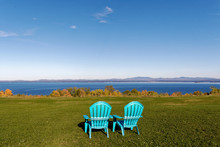 Lake Champlain With Burlington...