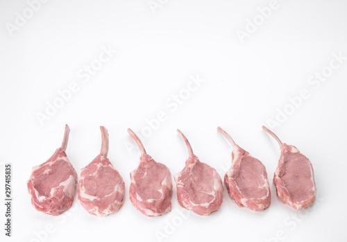 Fotografia center cut veal rib chops