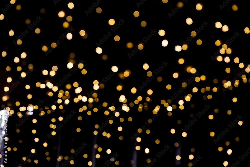 Fototapety, obrazy: Defocused Christmas Bokeh light.