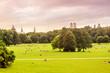 English garden and Munich skyline panoramic view
