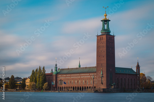 Beautiful Stockholm city hall castle Canvas Print