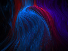 3D Illustration - Soft Abstract Background Image, Red Colored Sphere With Soft Focus, Motion Concept, Turbulence, Smoke Flowing Around Object Effect, Motion Concept, Digital Illustration
