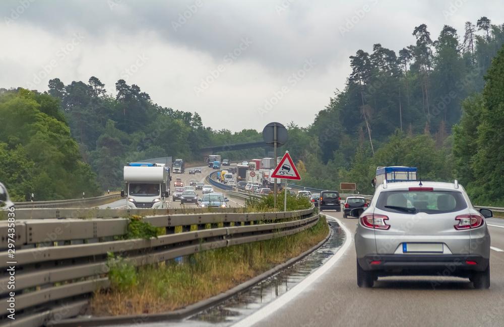 Fototapety, obrazy: highway scenery in Germany