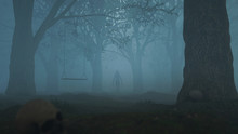 Gloomy Forest 3D Illustration ...