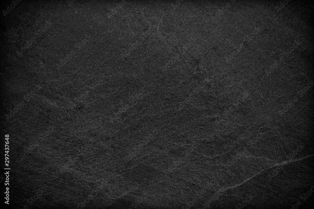 Fototapety, obrazy: Dark grey black slate background or texture