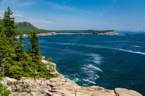 Rocky Coastline of Maine in Acadia National Park Canvas Print