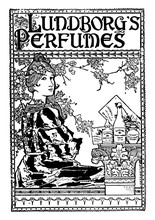 Perfume Advertisement, Vintage Illustration
