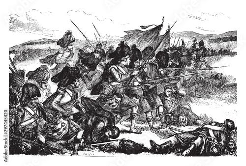 Photo Battle of Alma, vintage illustration.