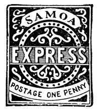 Samoa One Penny Stamp From 187...