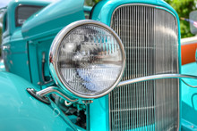 Headlight Of A Classic Car