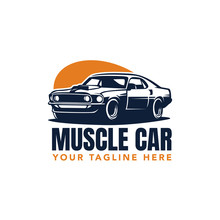 Muscle Car Badge Vector Illust...