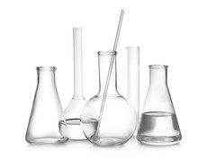Laboratory Glassware With Liqu...