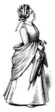 Woman With Umbrella, Vintage I...