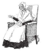 Grandmother, Vintage Illustration