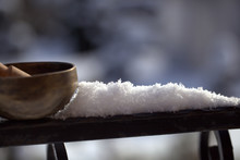 Tibetan Singing Bowl With Its ...